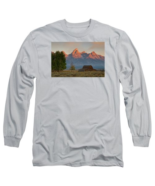 Long Sleeve T-Shirt featuring the photograph Sunrise In Jackson Hole by Steve Stuller