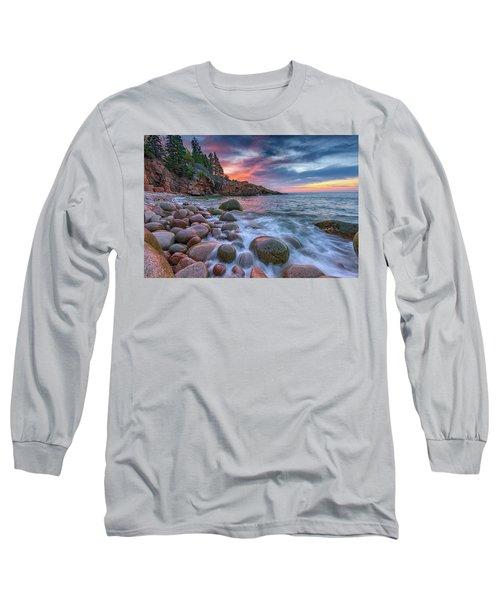 Sunrise In Monument Cove Long Sleeve T-Shirt by Rick Berk