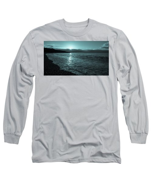 Sunrise In Stonehaven B-w Long Sleeve T-Shirt by Sergey Simanovsky