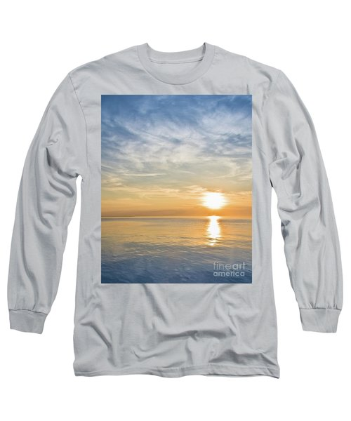 Sunrise Over Lake Michigan In Chicago Long Sleeve T-Shirt