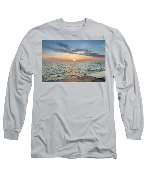Sunrise Over Lake Michigan Long Sleeve T-Shirt