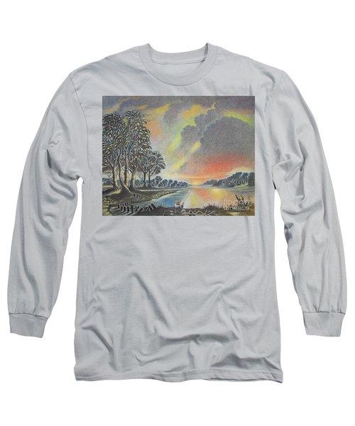 Sunset Angler Long Sleeve T-Shirt