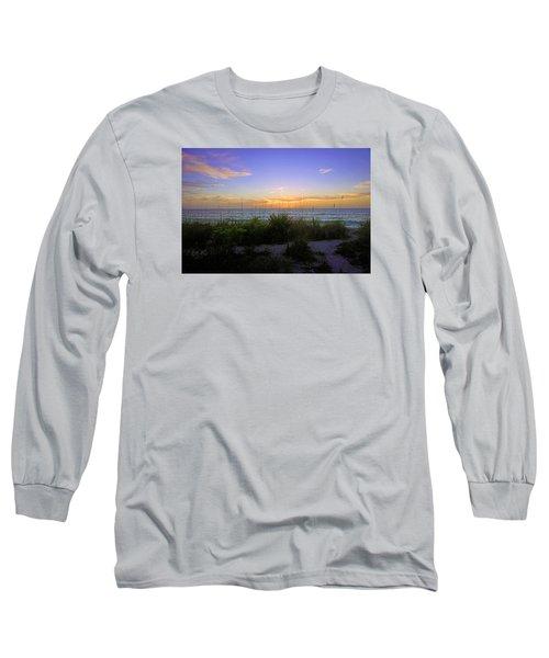 Sunset At Barefoot Beach Preserve In Naples, Fl Long Sleeve T-Shirt