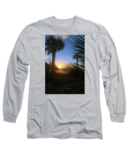Sunset At Bearefoot Beach In Naples Long Sleeve T-Shirt