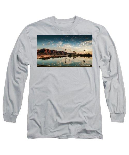 Sunset At Las Barancas Long Sleeve T-Shirt by Martina Thompson