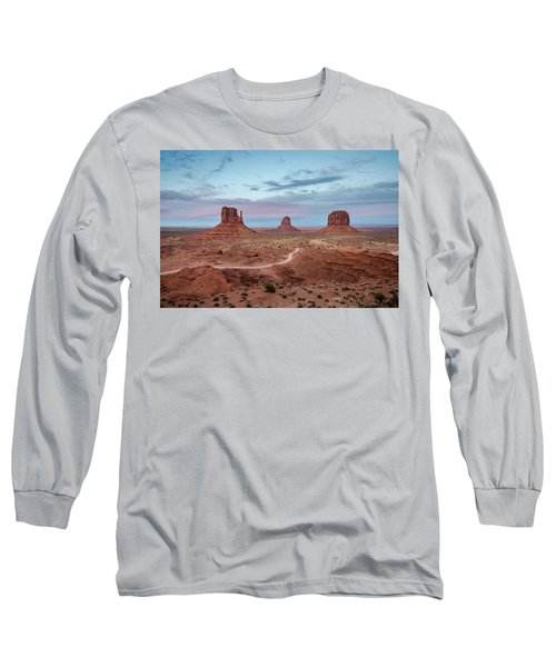 Sunset At Monument Valley No.1 Long Sleeve T-Shirt
