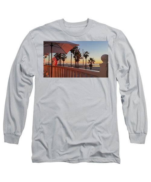 Sunset At Shutters Long Sleeve T-Shirt by Mark Barclay