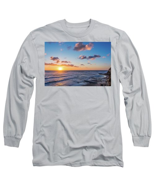 Sunset At Swami's Beach  Long Sleeve T-Shirt