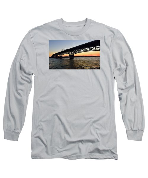 Sunset At The Coleman Bridge Long Sleeve T-Shirt