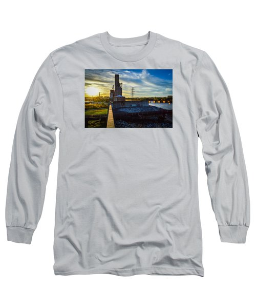 Sunset At The Flood Wall Long Sleeve T-Shirt