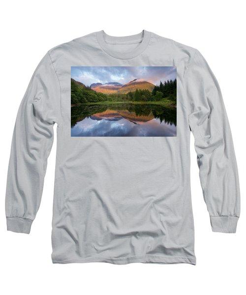 Sunset At Torren Lochan Long Sleeve T-Shirt
