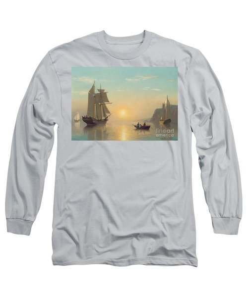 Sunset Calm In The Bay Of Fundy Long Sleeve T-Shirt