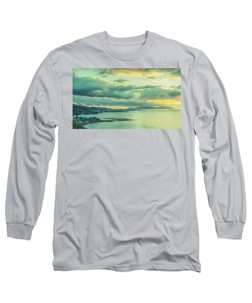 Long Sleeve T-Shirt featuring the photograph Sunset In Tahiti by Gary Slawsky