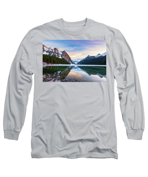 Sunset Lake Louise Long Sleeve T-Shirt