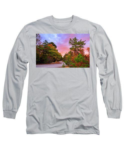 Sunset On Bombing Run Road Long Sleeve T-Shirt