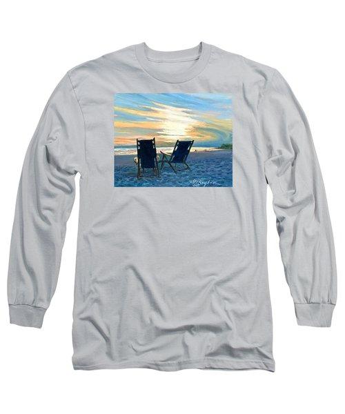 Sunset On The Beach Long Sleeve T-Shirt