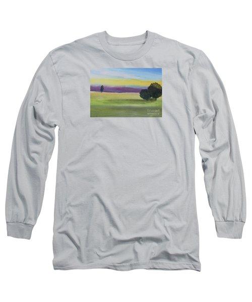 Sunset On The Plain Long Sleeve T-Shirt