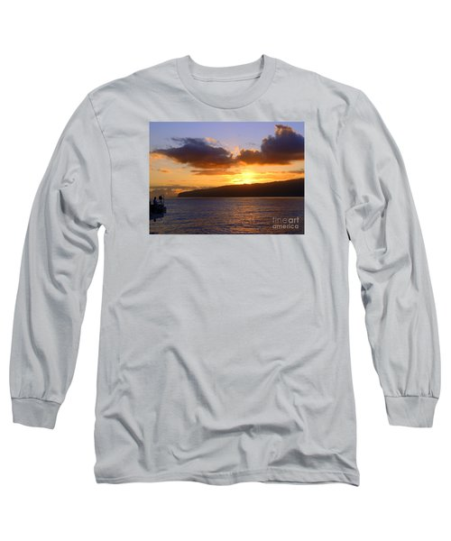 Sunset Over Reunion Island Long Sleeve T-Shirt