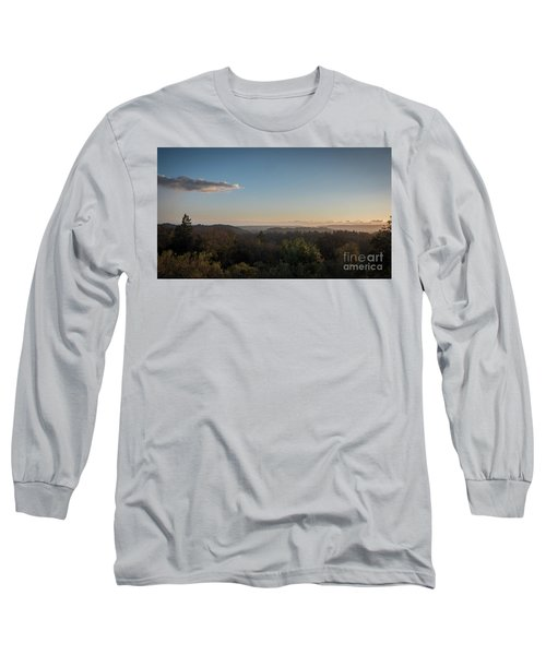 Sunset Over Top Of Dense Forest Long Sleeve T-Shirt