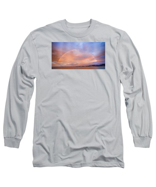 Long Sleeve T-Shirt featuring the photograph Sunset Rainbow by Steve Siri