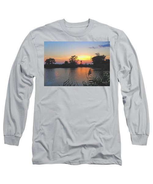 Sunset West Of Myer's Bagels Long Sleeve T-Shirt by Felipe Adan Lerma
