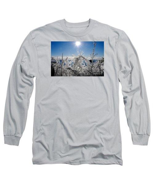 Sunshine And Ice Long Sleeve T-Shirt by Sandra Updyke
