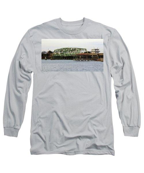 Surf City Swing Bridge Long Sleeve T-Shirt by Cynthia Guinn