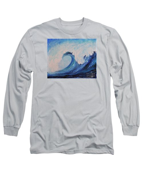 Long Sleeve T-Shirt featuring the painting Surf No.2 by Teresa Wegrzyn