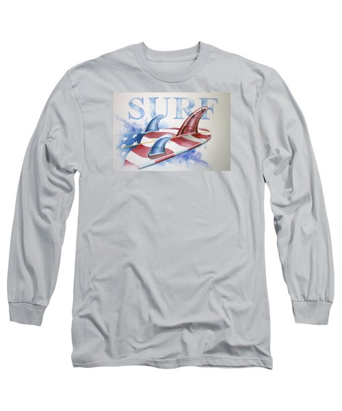 Surf Usa Long Sleeve T-Shirt by William Love