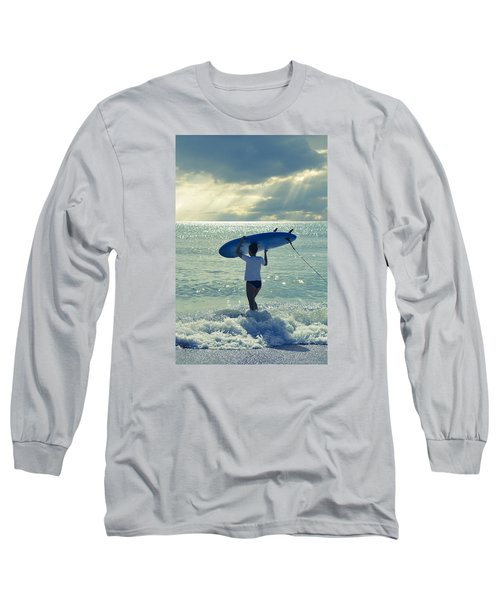 Surfer Girl Long Sleeve T-Shirt by Laura Fasulo