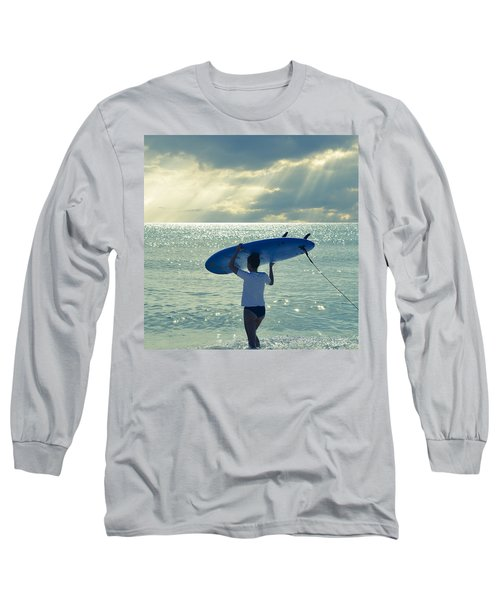 Surfer Girl Square Long Sleeve T-Shirt