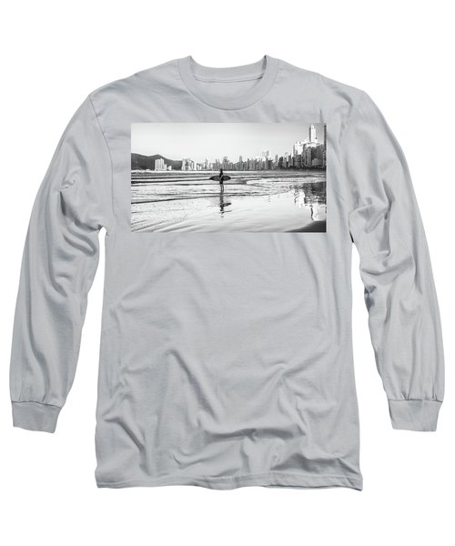 Surfer On The Beach Long Sleeve T-Shirt