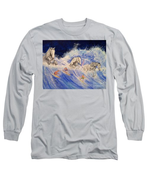 Surfing Horses Long Sleeve T-Shirt