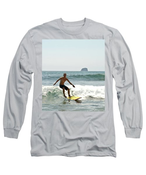 Surfing New Zealand Waves Long Sleeve T-Shirt by Yurix Sardinelly