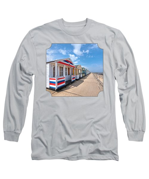 Surf's Up - Colorful Beach Huts - Square Long Sleeve T-Shirt