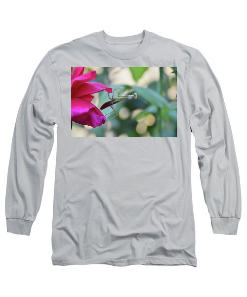 Long Sleeve T-Shirt featuring the photograph Surprise At The Rose by Debby Pueschel