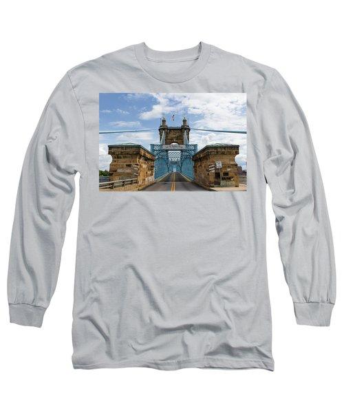 Suspension Bridge Wide Angel Long Sleeve T-Shirt by Scott Meyer