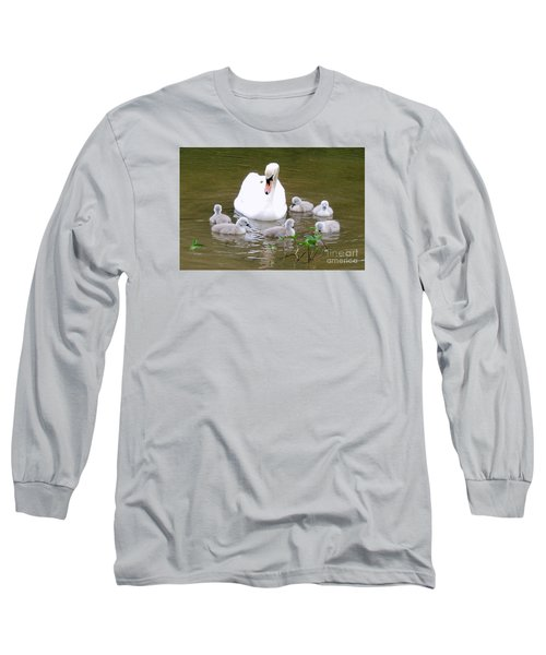 Long Sleeve T-Shirt featuring the photograph Swan Lake 1 by Bill Holkham