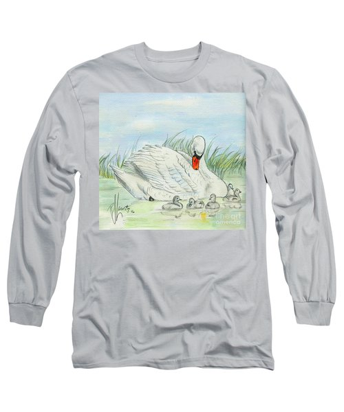 Swan Song Long Sleeve T-Shirt by P J Lewis