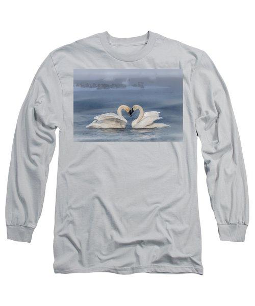 Swan Valentine - Blue Long Sleeve T-Shirt