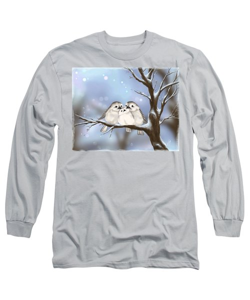 Long Sleeve T-Shirt featuring the painting Sweet Family by Veronica Minozzi
