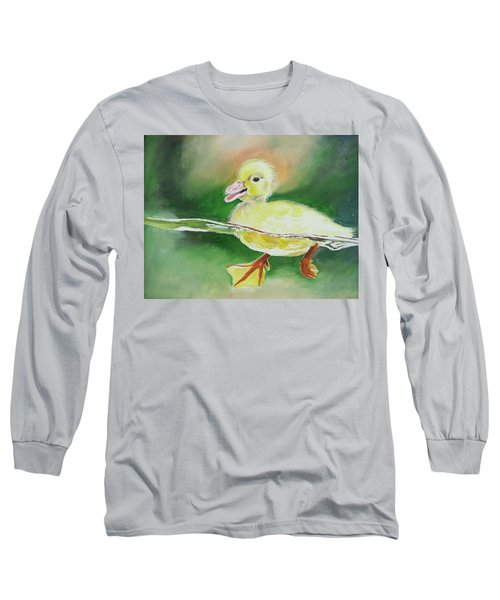 Swimming Duckling Long Sleeve T-Shirt