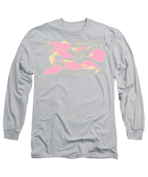 Swirl 3 Long Sleeve T-Shirt by Linda Velasquez