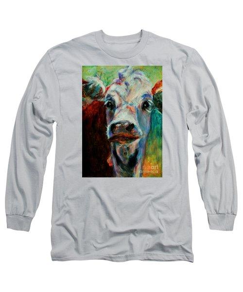 Swiss Cow - 1 Long Sleeve T-Shirt by David  Van Hulst