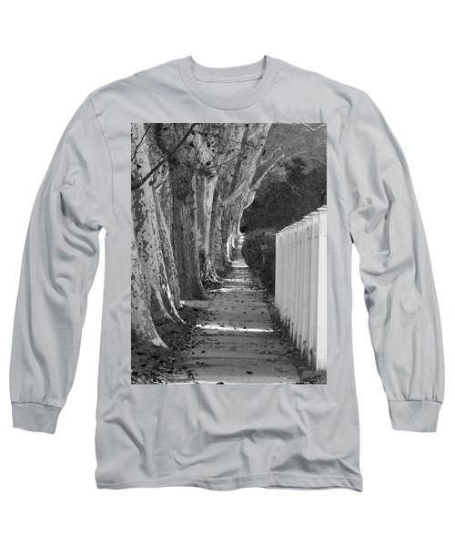 Sycamore Walk-grayscale Version Long Sleeve T-Shirt