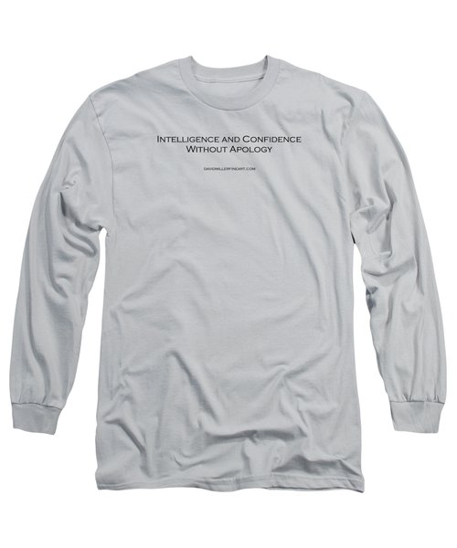 T-shirt - Intelligence And Confidence Long Sleeve T-Shirt