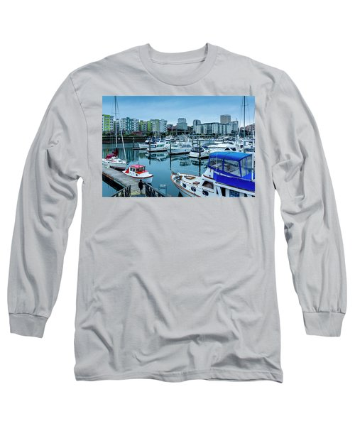 Tacoma Waterfront Marina,washington Long Sleeve T-Shirt