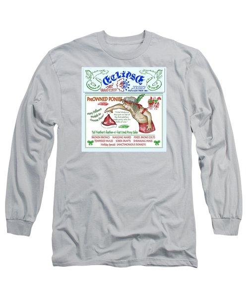 Real Fake News Preowned Pony Ad Long Sleeve T-Shirt