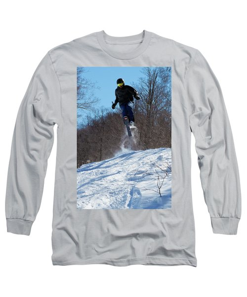 Long Sleeve T-Shirt featuring the photograph Taking Air On Mccauley Mountain by David Patterson