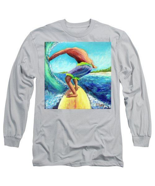 Taking Off Long Sleeve T-Shirt by Patricia Piffath